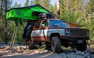 Chevrolet Suburban camping