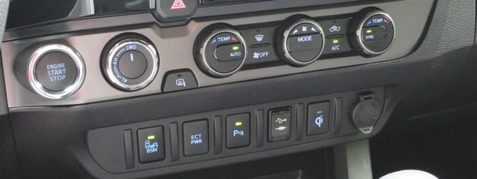 Toyota Tacoma ECT PWR Button
