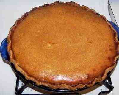 Beautiful homemade pumpkin pie