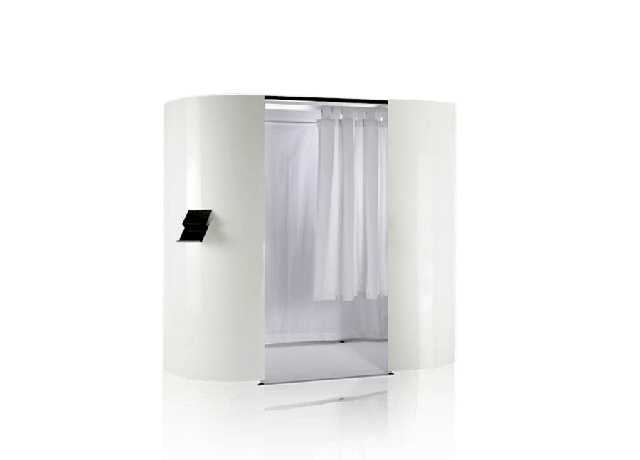 White booth