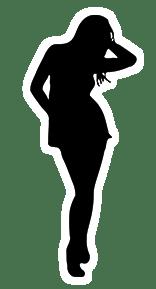 Model silhouette