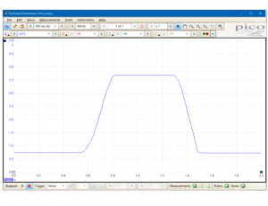 PicoScope testing of a throttle position potentiometer