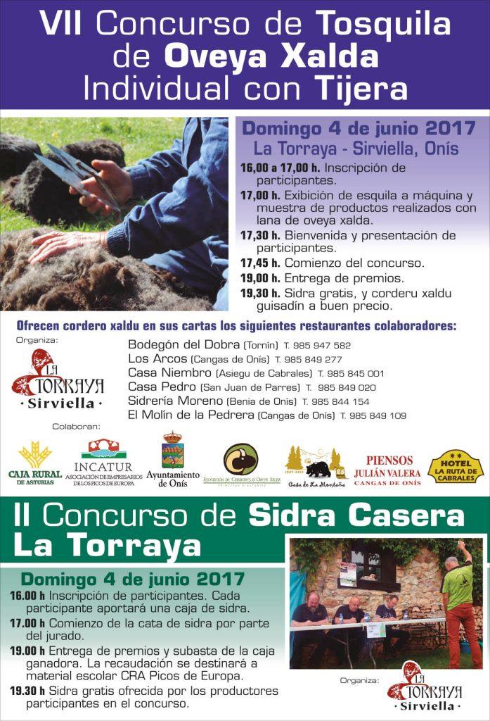 Programa de actos del concurso de tosquila de oveya xalda