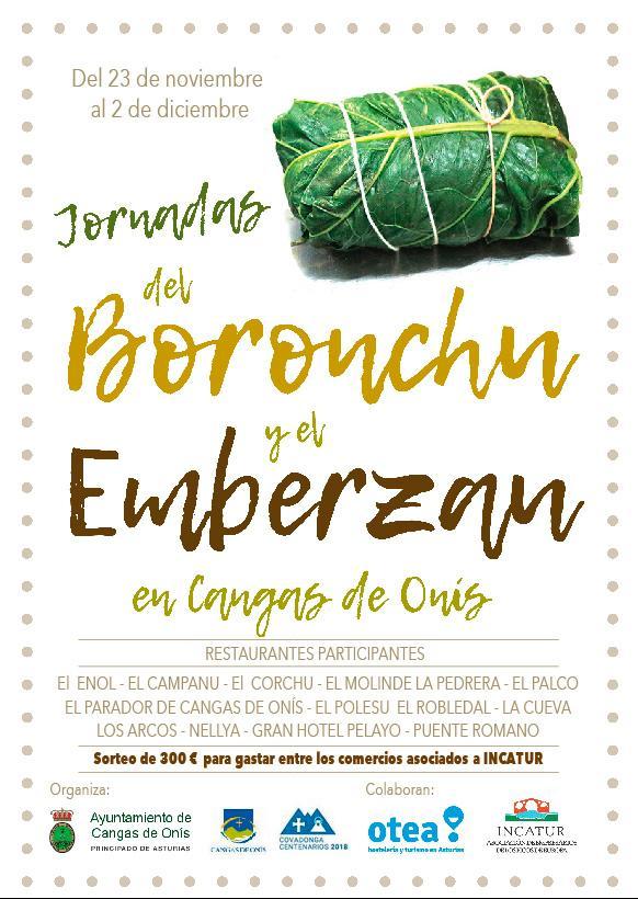 Cartel Jornadas Gastronómicas del Borobchu y el Emberzau
