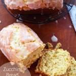 zucchini bread with lemon glaze