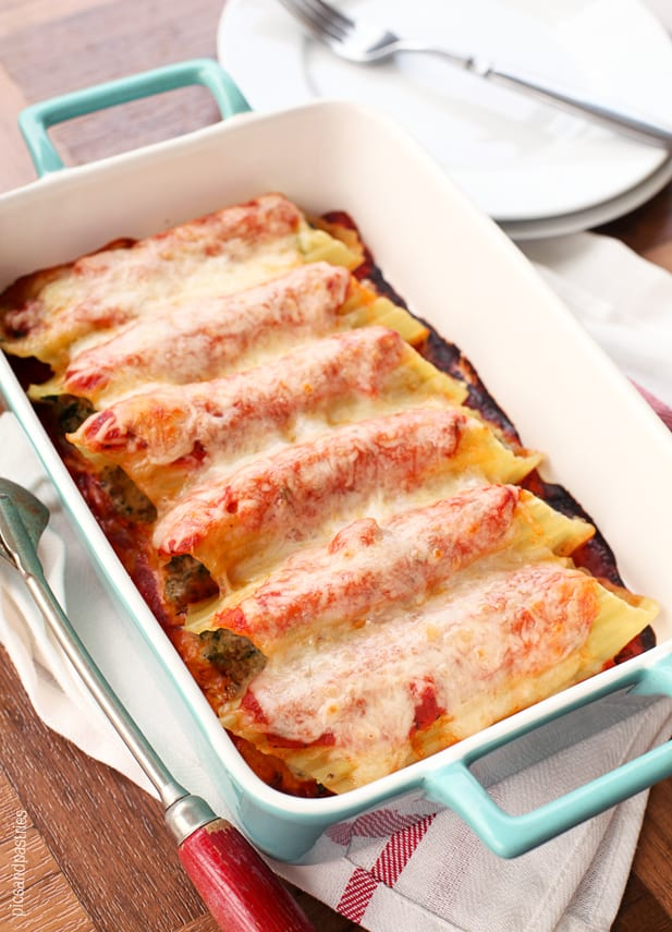 spinach and sausage manicotti
