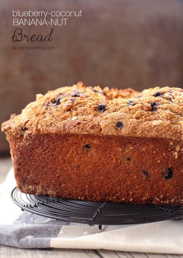 blueberry coconut banana nut bread