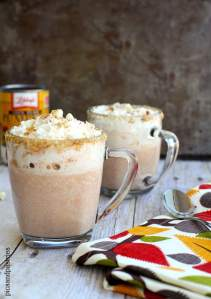 white hot chocolate with pumpkin