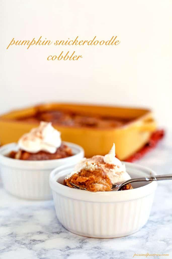 recipe for pumpkin snickerdoodle cobbler