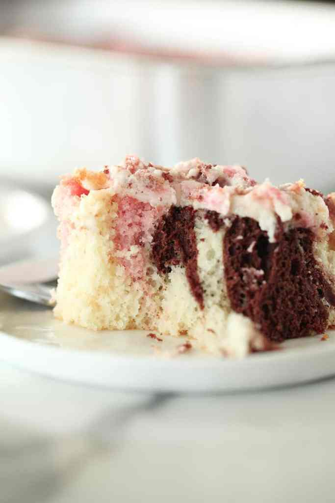 slice of neapolitan cake