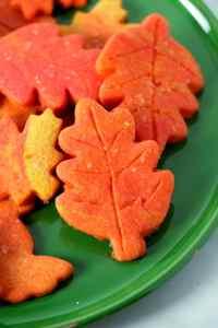 Fall leaf sugar cookie