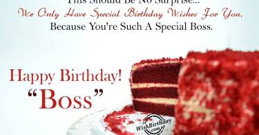Boss Birthday Wishes