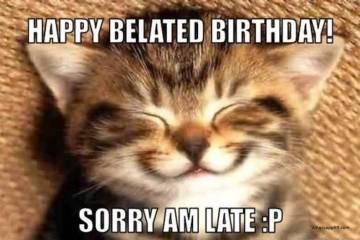 Kitty Wishes Happy Belated Birthday