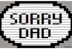 Sorry Dad Text Message From Son picture