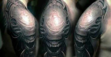 Alien Men Tattoo