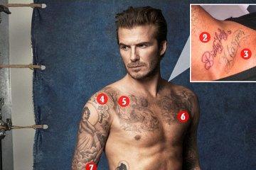 Tattoo Of David Beckham