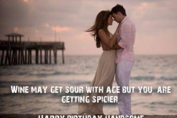 Romantic Husband Birthday Wishes Message Image