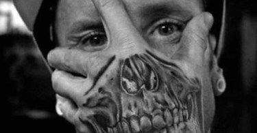 Awesome Skull Tattoo On Hand For Boys