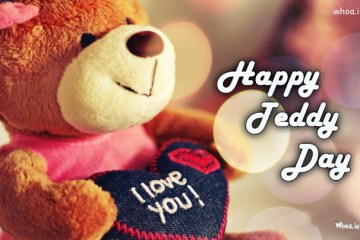 I Love You Cute Teddy Day Wishes Image