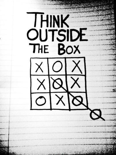 Groovy Creativity sayings think outside the box.