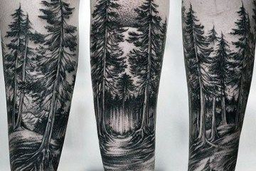 Inspirational Forest Tattoos On Arn for Girl