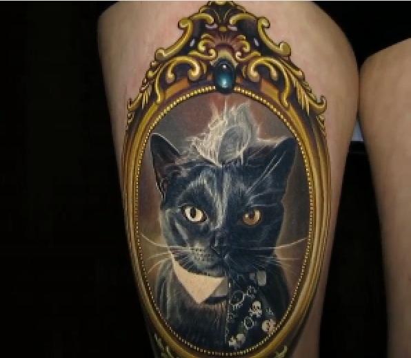 Portrait Of Frame Tattoo Made By Nikko Hurtado