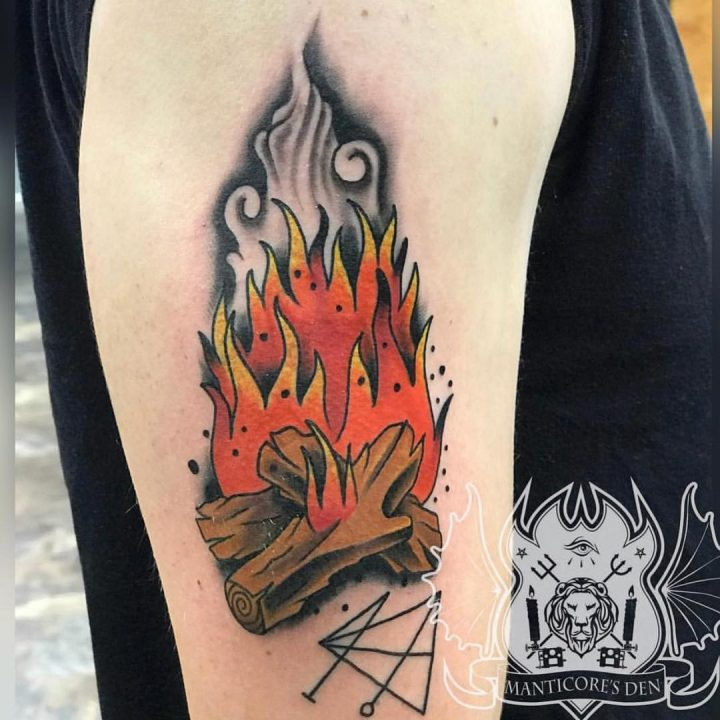 Trendy Fire Tattoos