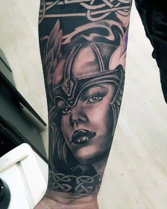 Valkyrie Tattoos Designs & Idea For Men's And Women's 0031