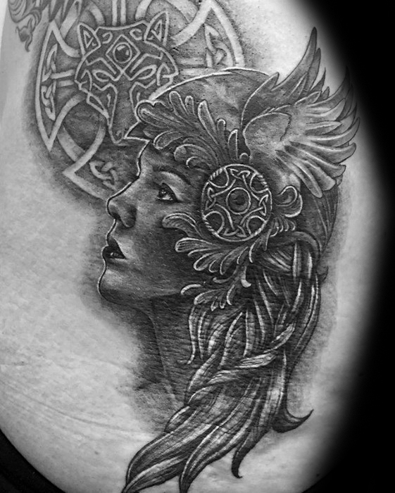 Valkyrie Tattoos Designs & Idea For Men's And Women's 0047
