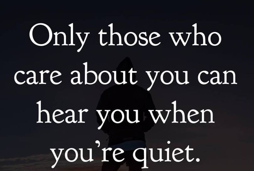 Amazing Quotes only those who care about you can