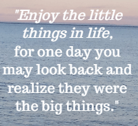 Appreciation Quotes enjoy the little things is life.