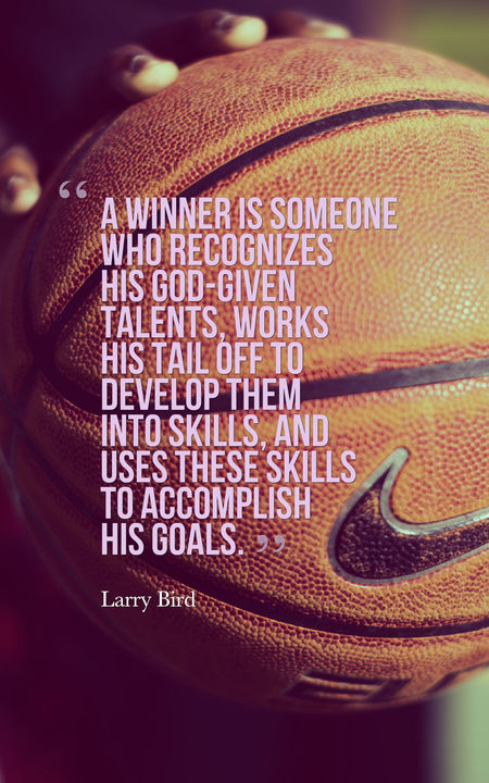Basketball quotes a winner is someone who recognizes