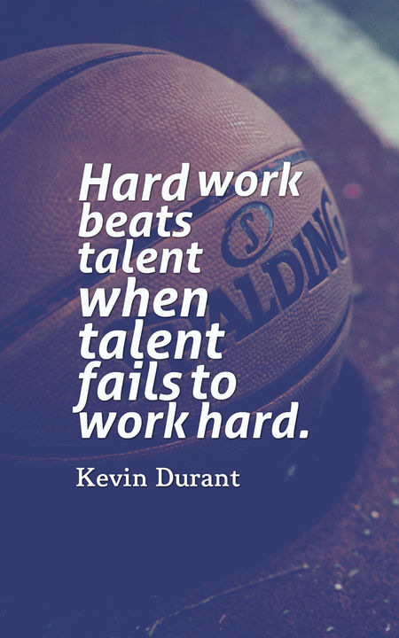 Basketball quotes hard work beats talent when talent