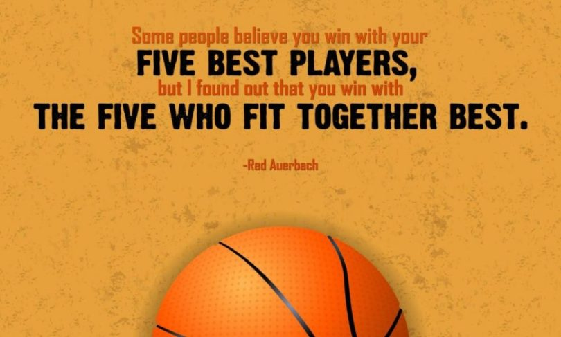 Basketball quotes some people believe you win with your five best
