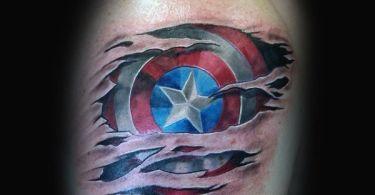 Captain America Tattoos