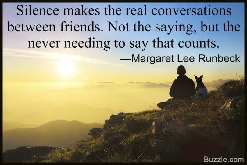Emotional Quotes silence makes the real conversations between