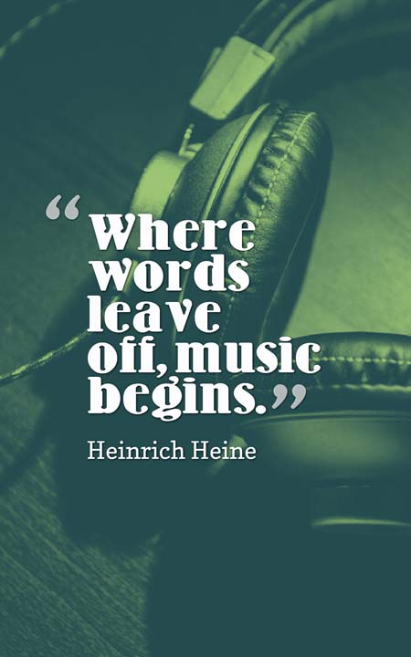 Music Quotes whare words leave off.