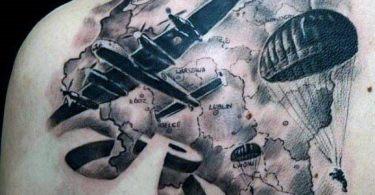 Parachute tattoos