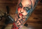 Quirky Harley Quinn Tattoo