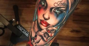 Quirky Harley Quinn Tattoo
