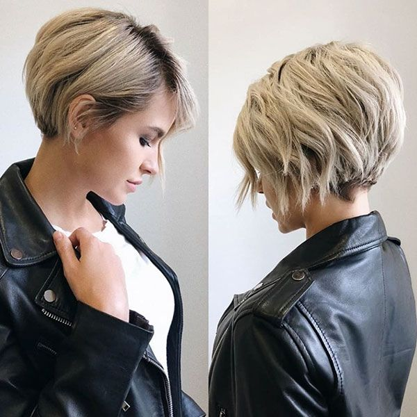 Short Hair Styles Design Idea for Women & Girls 0035