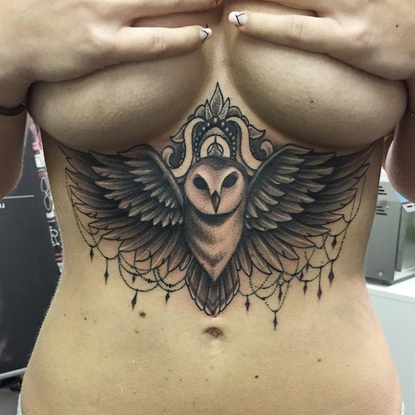 Under boob Tattoo Designs For Women And Girls 0014