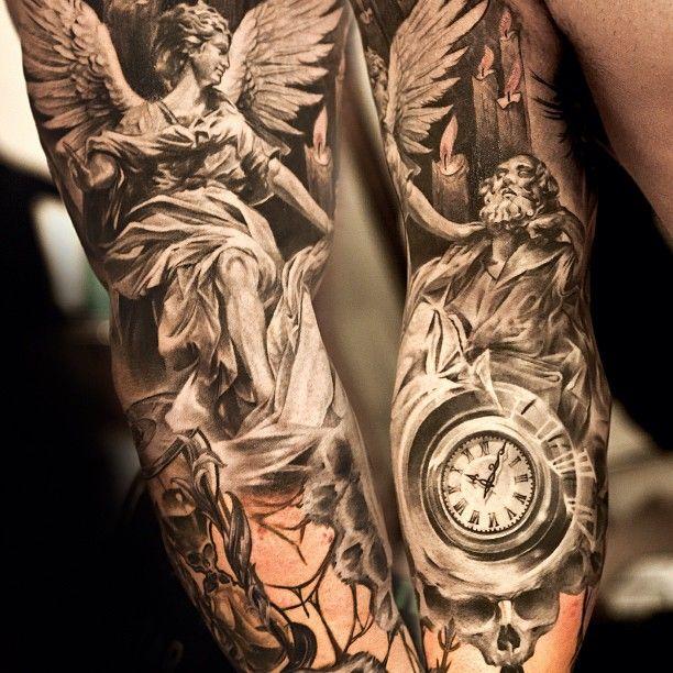Angel Statue Tattoos