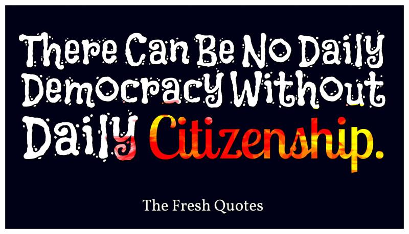 Citizenship Sayings