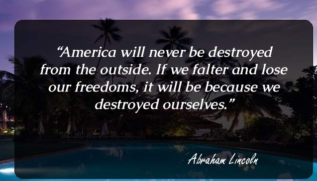 Citizenship quotes, Sayings And Quotations America will never be