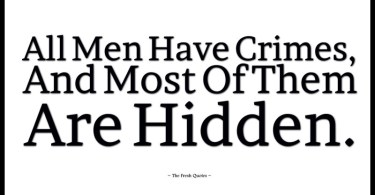 Crime Quotations