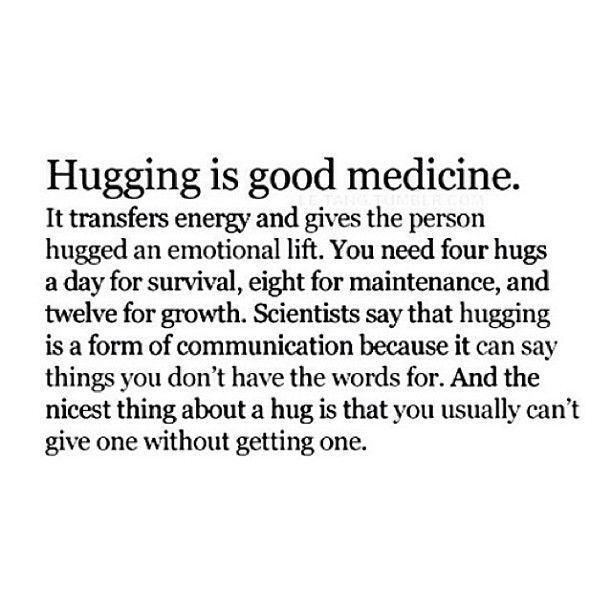 Hugging Sayings