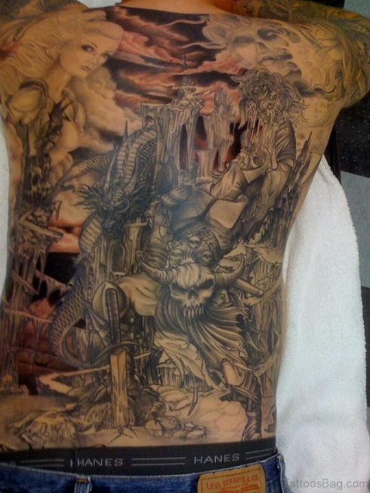 Alluring Back Tattoos For Boy's And Girls 04