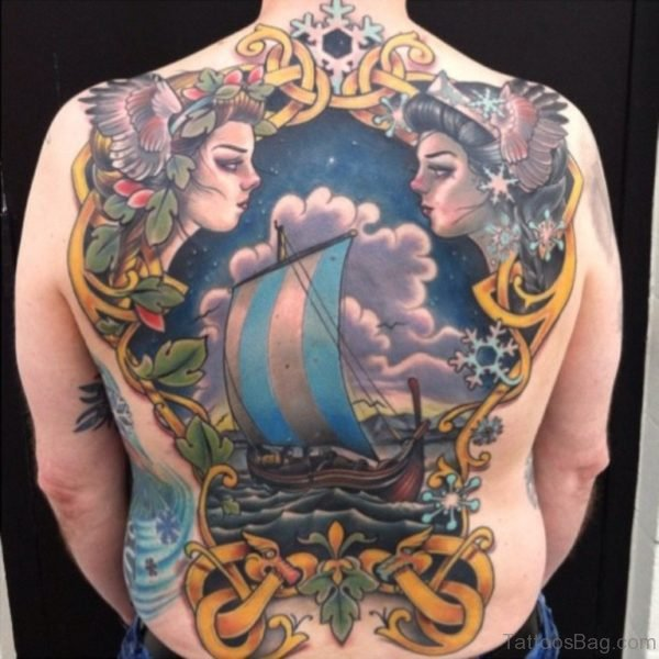 Alluring Back Tattoos For Boy's And Girls 08