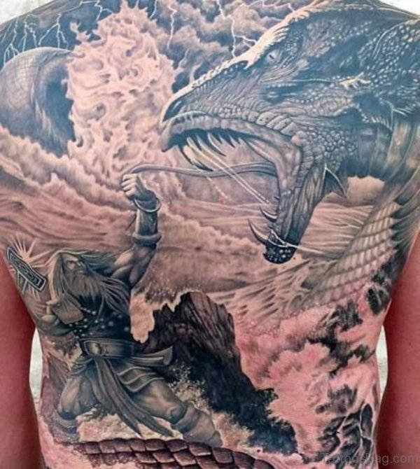 Alluring Back Tattoos For Boy's And Girls 14